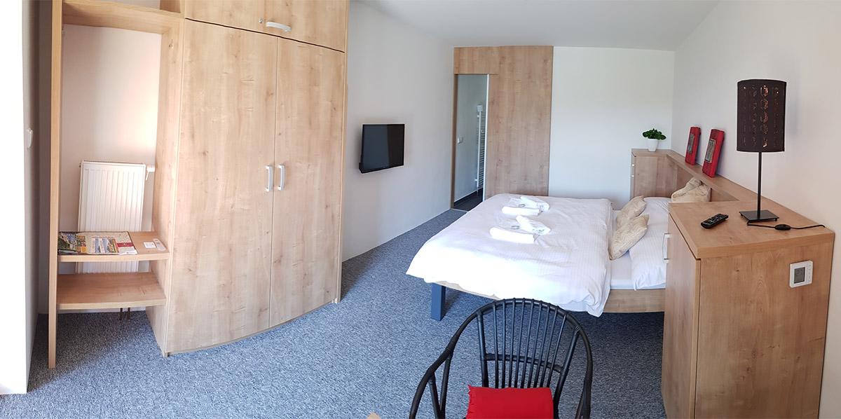 Pohled na dvou lůžkový pokoj