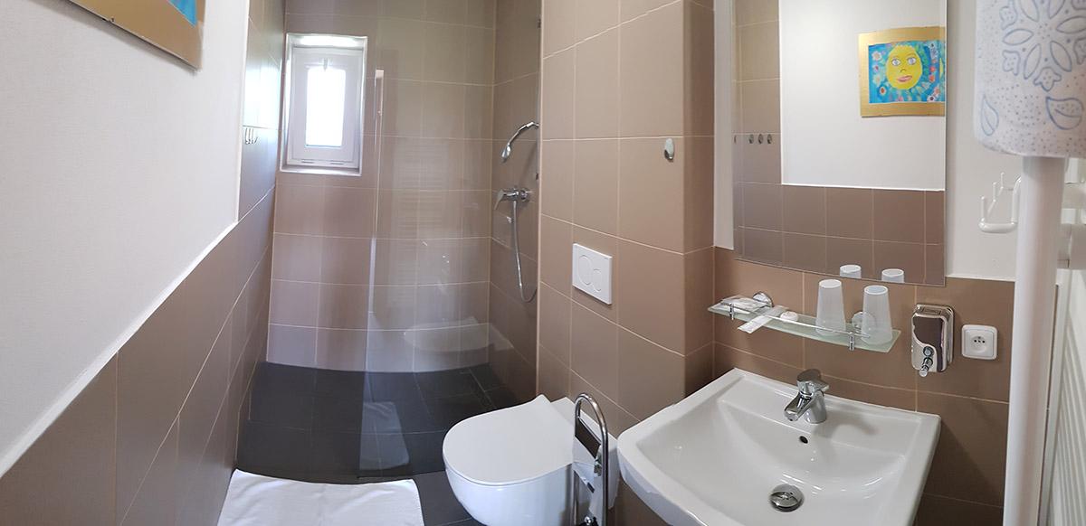 Koupelna dvou lůžkového pokoje